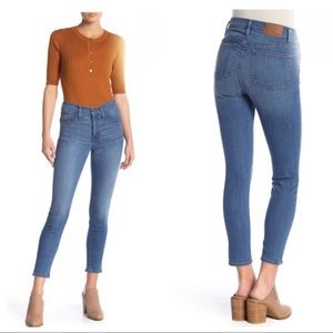 "Madewell 9"" high rise skinny crop jeans sz 30"